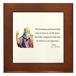 Plato 14 Framed Tile