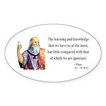 Plato 14 Oval Sticker