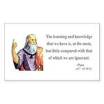 Plato 14 Rectangle Sticker
