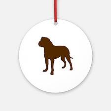 Rottweiler Brown 2 Round Ornament