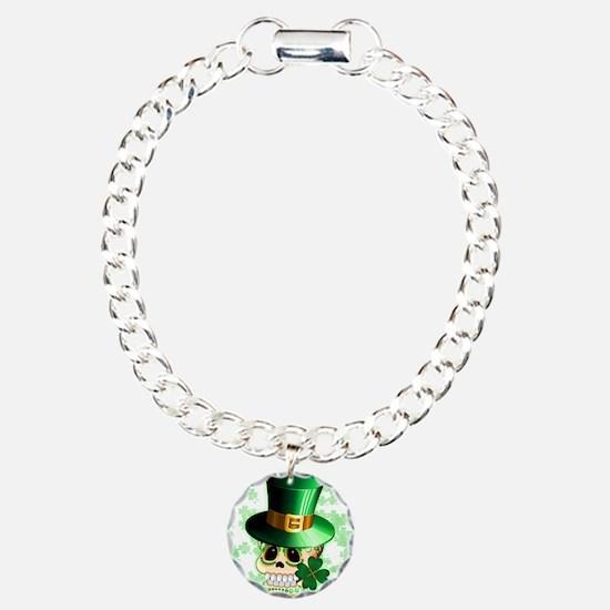 St Patrick Skull Cartoon Bracelet