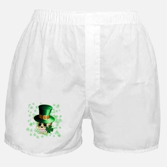 St Patrick Skull Cartoon Boxer Shorts