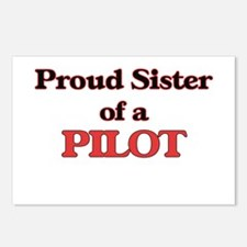 Proud Sister of a Pilot Postcards (Package of 8)