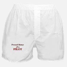 Proud Sister of a Pilot Boxer Shorts