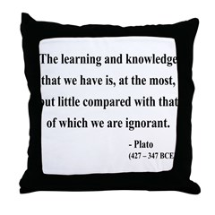 Plato 14 Throw Pillow