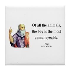 Plato 15 Tile Coaster