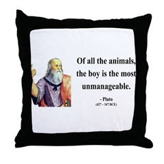 Plato 15 Throw Pillow