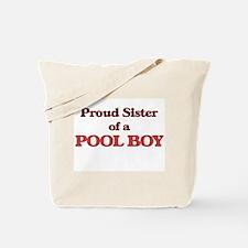 Proud Sister of a Pool Boy Tote Bag