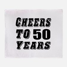 Cheers To 50 Throw Blanket