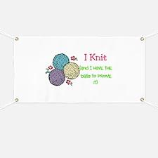 I Knit Banner