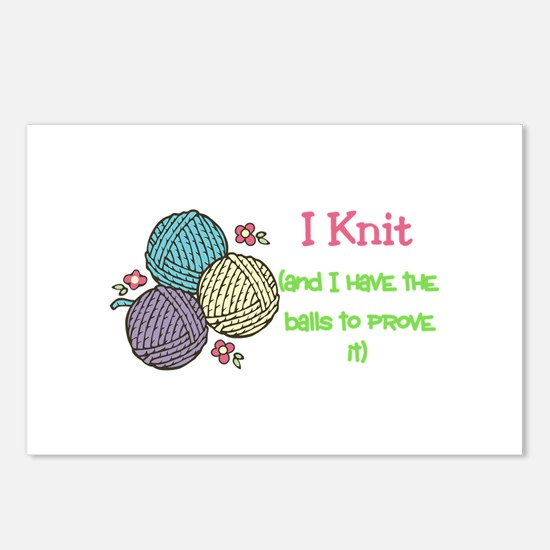 I Knit Postcards (Package of 8)