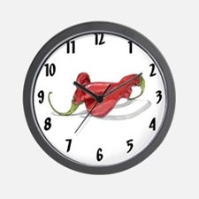 Twisted Chilies Wall Clock
