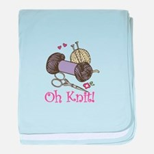 Oh Knit baby blanket