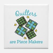 Quilt Pieces Tile Coaster