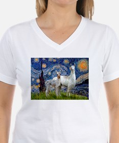 Starry Night Llama Duo Shirt