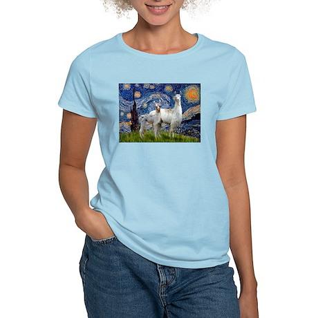 Starry Night Llama Duo Women's Light T-Shirt