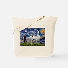 Starry Night Llama Duo Tote Bag