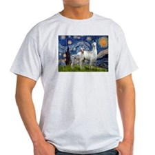 Starry Night Llama Duo T-Shirt