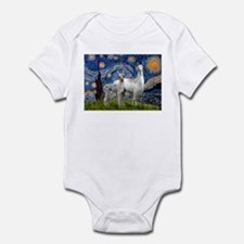 Starry Night Llama Duo Infant Bodysuit