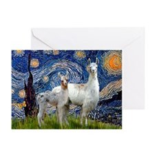 Starry Night Llama Duo Greeting Cards (Pk of 10)