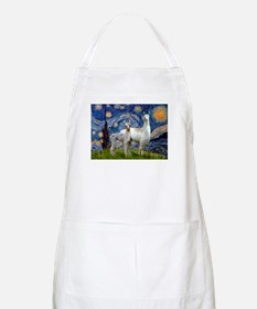 Starry Night Llama Duo BBQ Apron