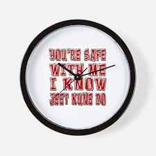I Know Jeet Kune Do Wall Clock