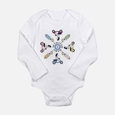Cute And vespa Long Sleeve Infant Bodysuit
