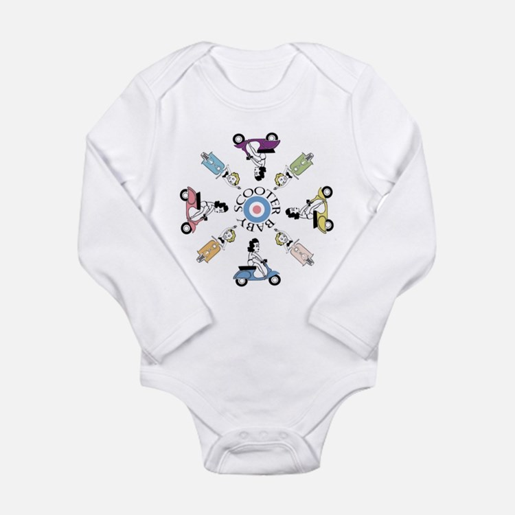 Cute Vintage uk Long Sleeve Infant Bodysuit