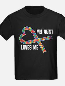 Autism Aunt Loves Me T-Shirt