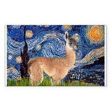 Starry Night Llama Rectangle Decal