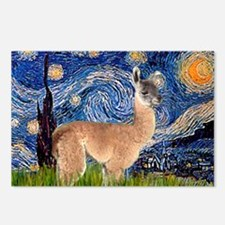 Starry Night Llama Postcards (Package of 8)