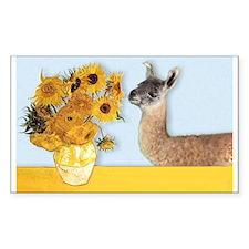Sunflowers & Llama Rectangle Decal