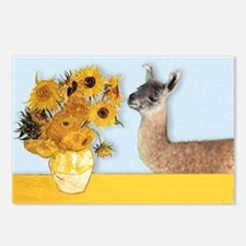 Sunflowers & Llama Postcards (Package of 8)
