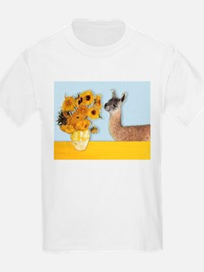 Sunflowers & Llama T-Shirt
