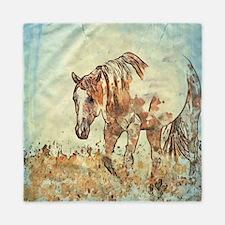 Cute Paint horse Queen Duvet