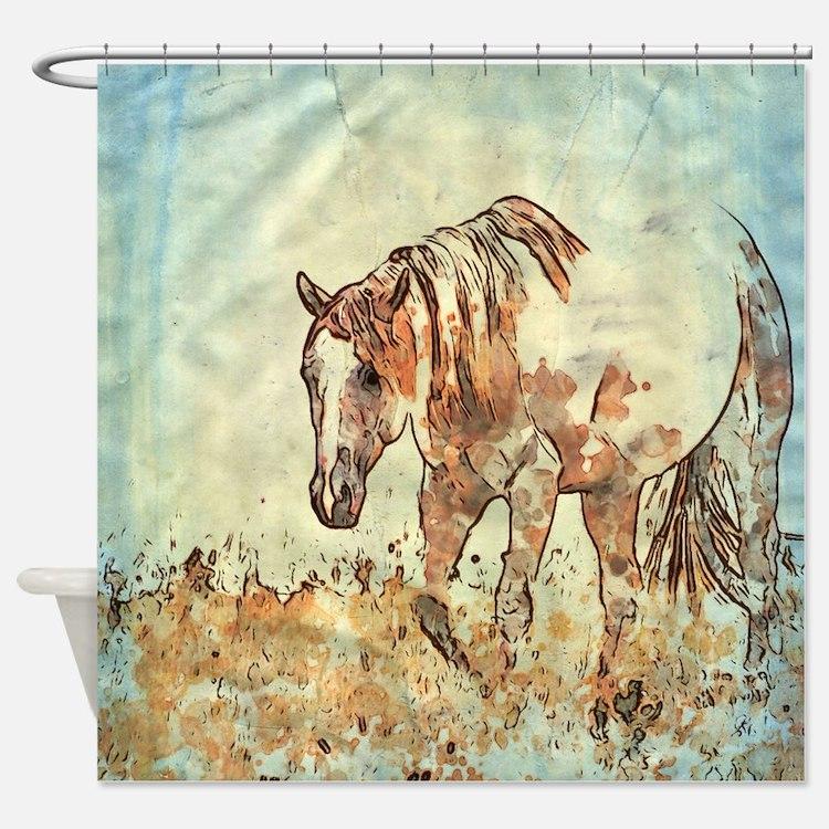 Cute Riding Shower Curtain