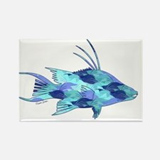 Cute Spearfishing Rectangle Magnet