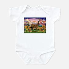 Autumn Angel & Llama Infant Bodysuit