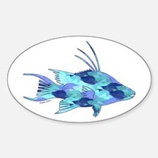 Blue Camouflage Hogfish Decal