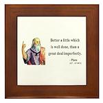 Plato 16 Framed Tile