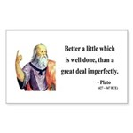 Plato 16 Rectangle Sticker