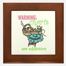 Crafts Are Addictive Framed Tile