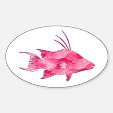 Pink Camouflage Hogfish Decal
