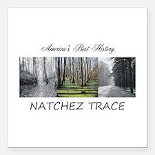 """Abh Natchez Trace Square Car Magnet 3"""" X 3&qu"""