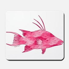 Pink Camouflage Hogfish Mousepad
