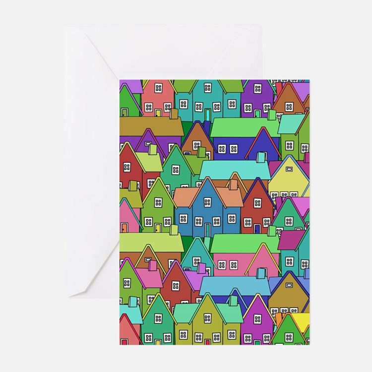 Cute Houses Greeting Cards (Pk of 20)