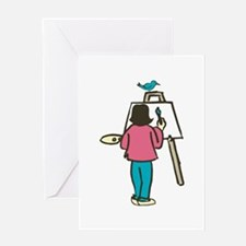 Artist Easel Greeting Cards