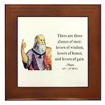 Plato 17 Framed Tile