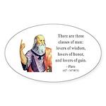 Plato 17 Oval Sticker