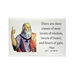 Plato 17 Rectangle Magnet (100 pack)